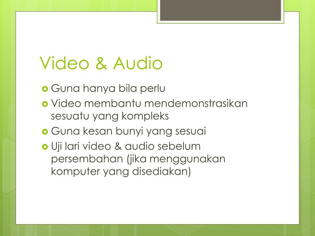 Video & Audio