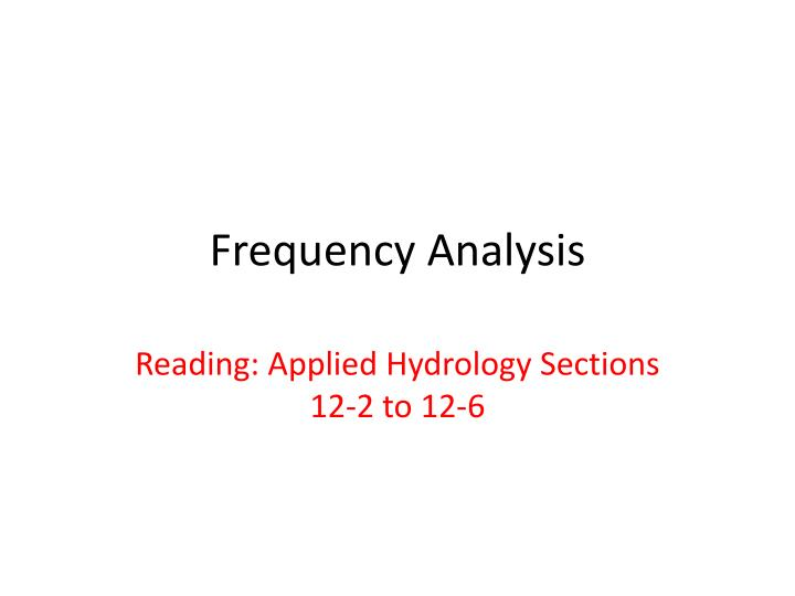 frequency analysis n.