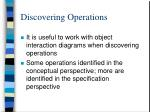 discovering operations