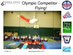 olympic competitor flying