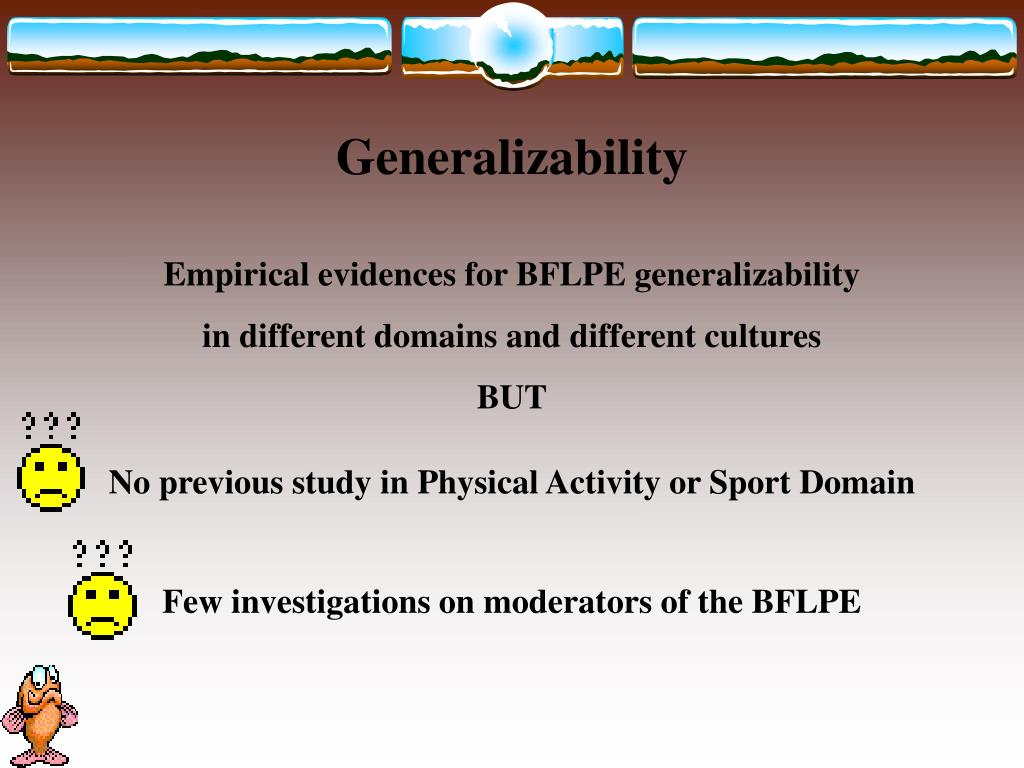 Few investigations on moderators of the BFLPE