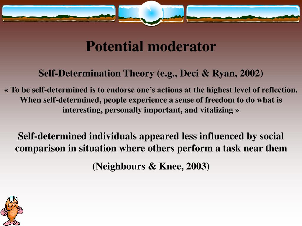Potential moderator