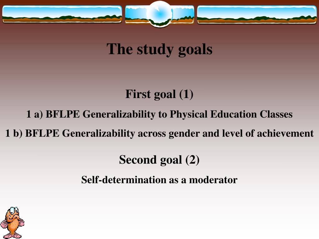 The study goals
