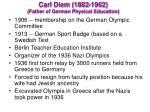 carl diem 1882 1962 father of german physical education