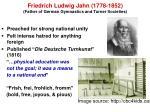 friedrich ludwig jahn 1778 1852 father of german gymnastics and turner societies