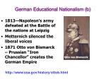 german educational nationalism b