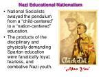 nazi educational nationalism