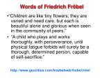 words of friedrich fr bel
