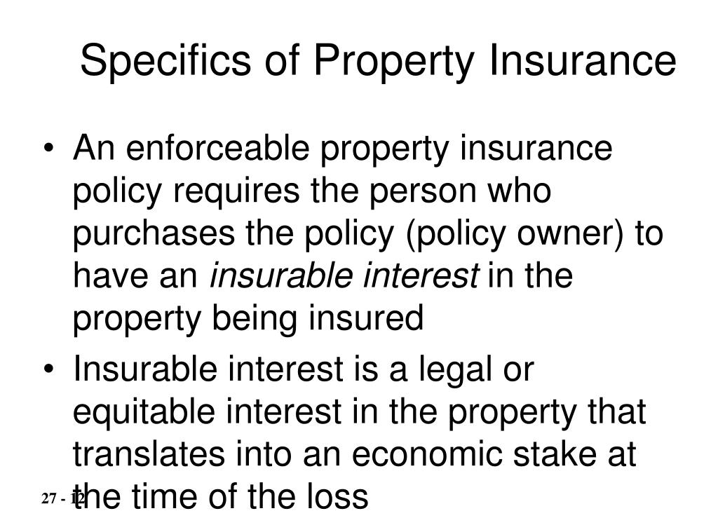 Specifics of Property Insurance