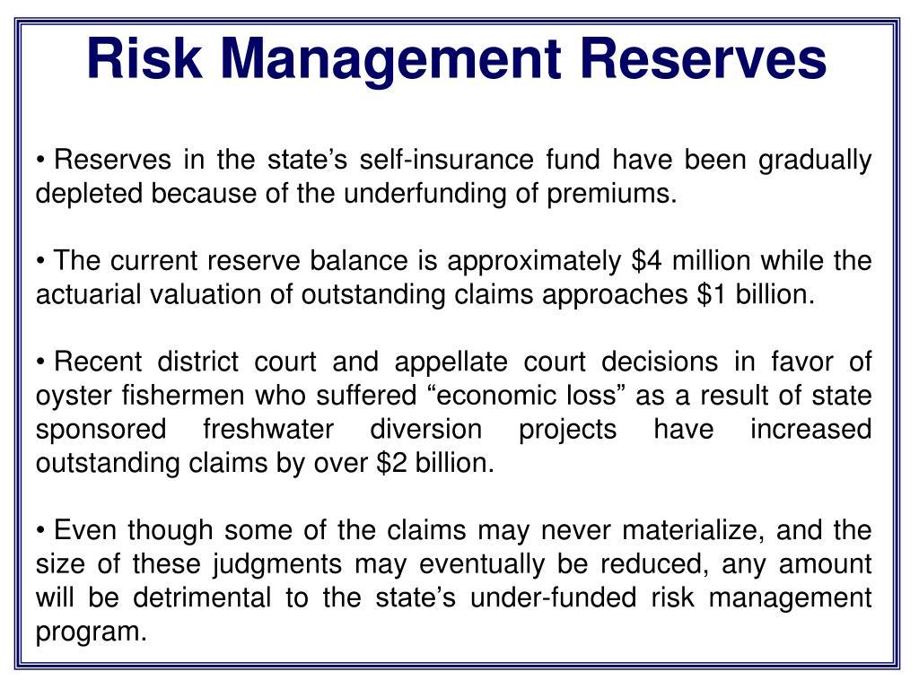 Risk Management Reserves