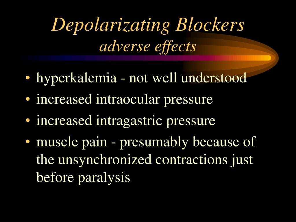 Depolarizating Blockers