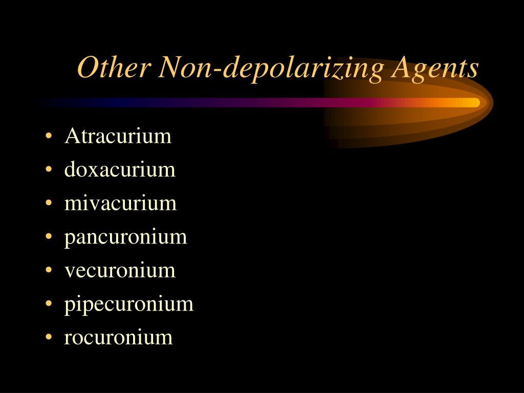 Other Non-depolarizing Agents