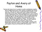 payton and avery at home