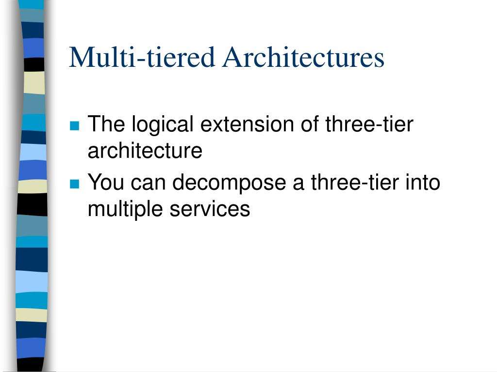 The logical extension of three-tier architecture