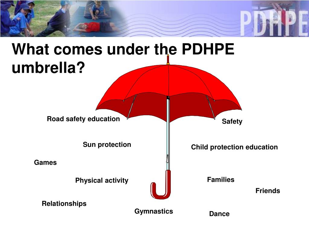 What comes under the PDHPE umbrella?