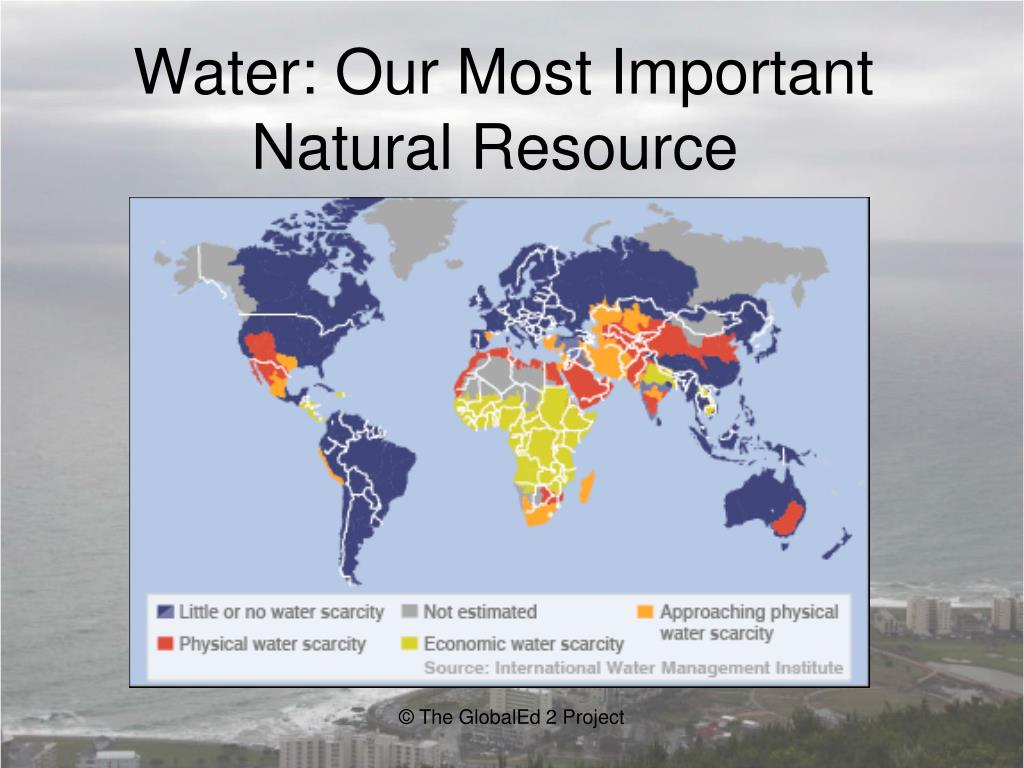 water a natural resource essay Water page resources importance of water conservation fresh, clean water is a limited resource while most of the planet is covered in water, it is salt water that can only be consumed by humans and other species after undergoing desalination, which is an expensive process.