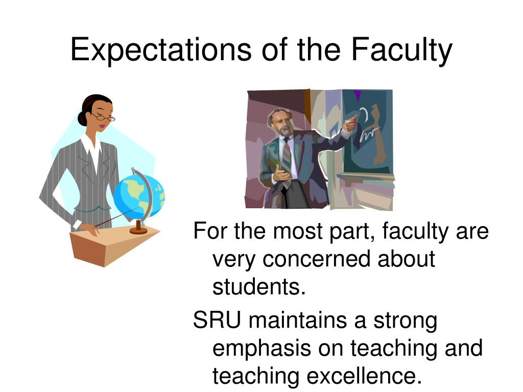 expectations of the faculty l.