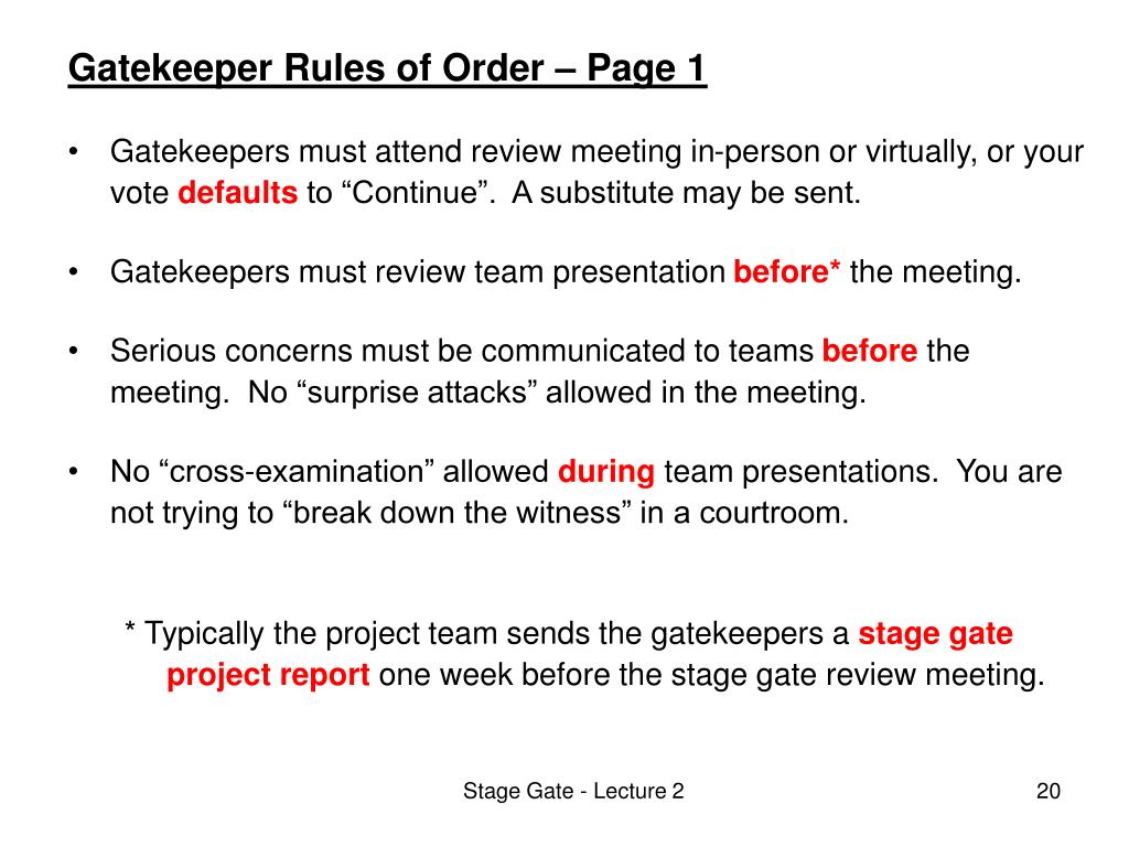 Gatekeeper Rules of Order – Page 1