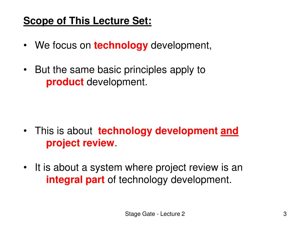Scope of This Lecture Set: