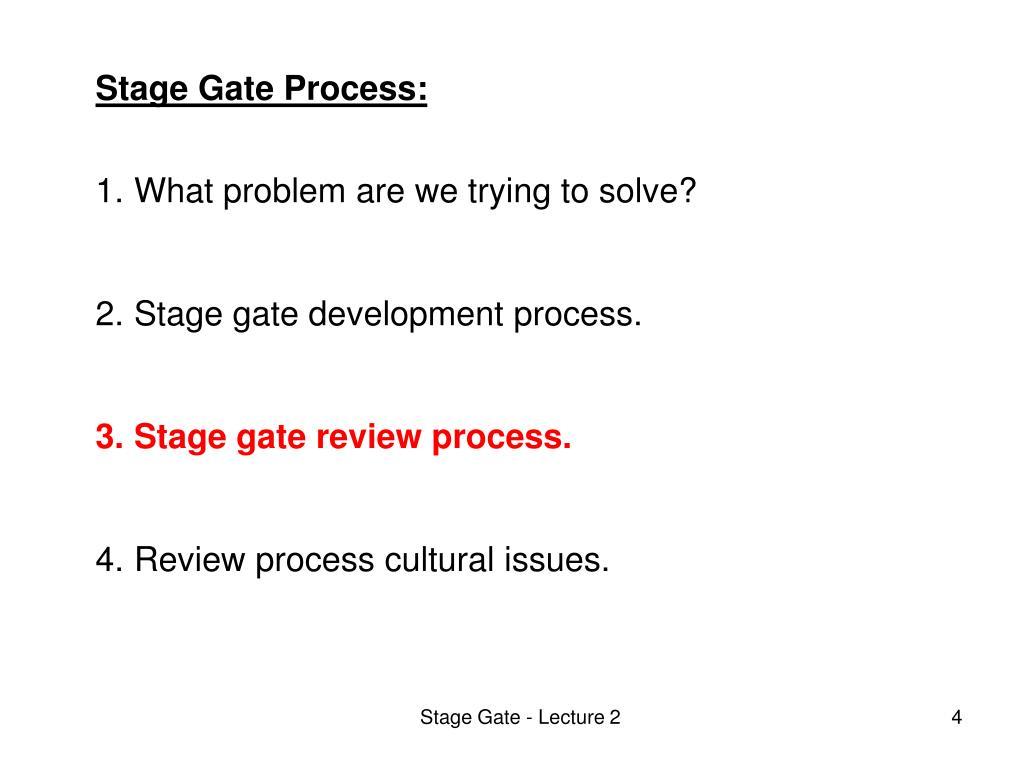 Stage Gate Process: