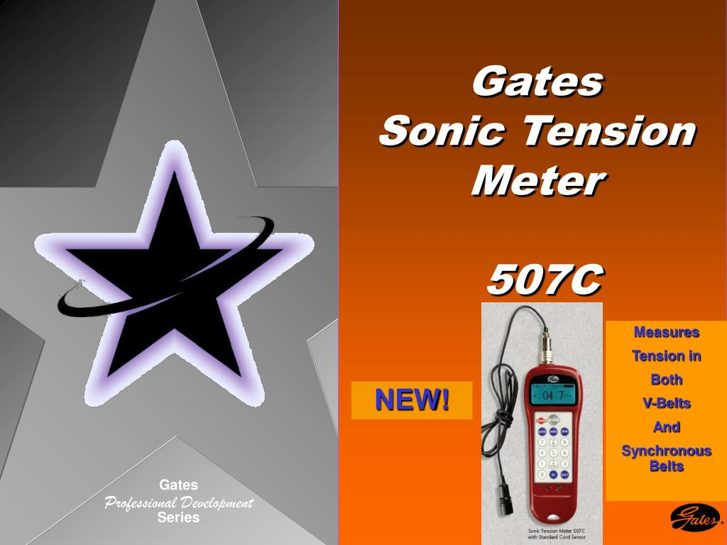 gates sonic tension meter 507c l.