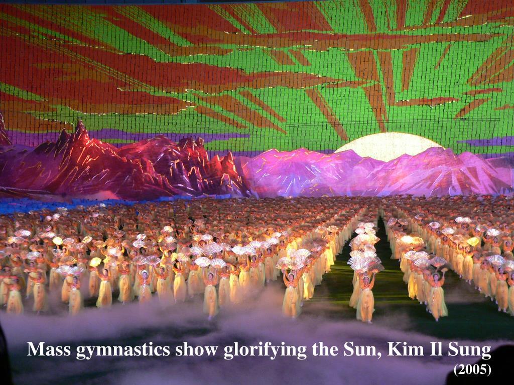 Mass gymnastics show glorifying the Sun, Kim Il Sung