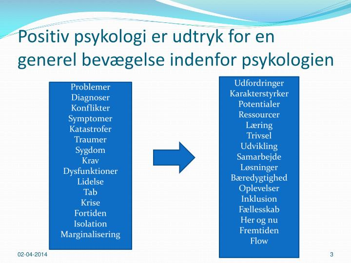 PPT - Positiv psykologi og flow - om optimale situationer i undervisning, og pædagogik ...