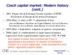 czech capital market modern history cont11