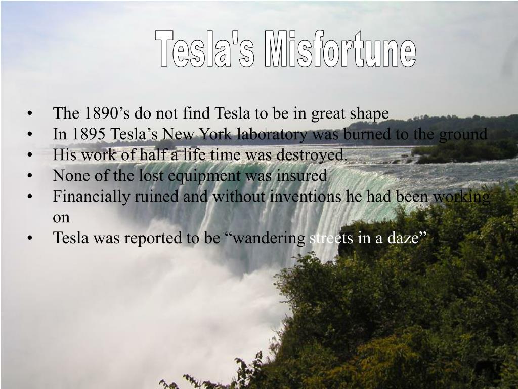 Tesla's Misfortune