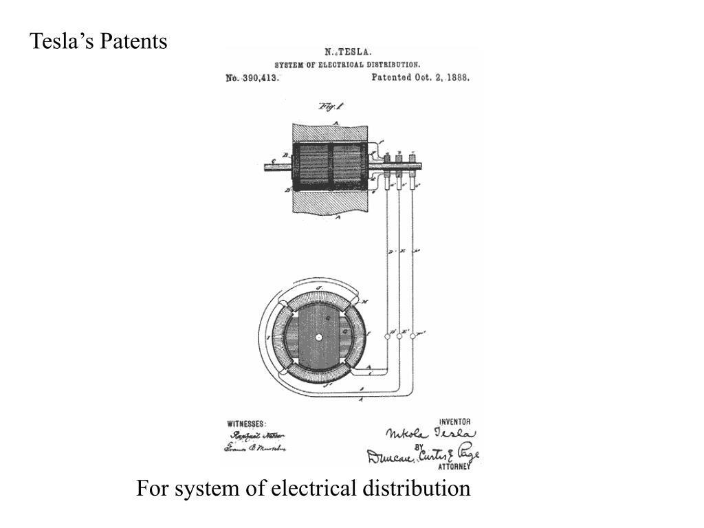 Tesla's Patents