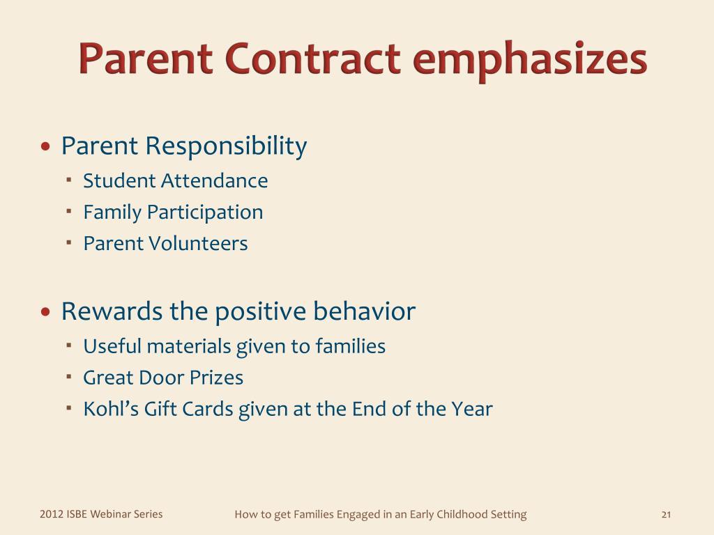 Parent Contract emphasizes