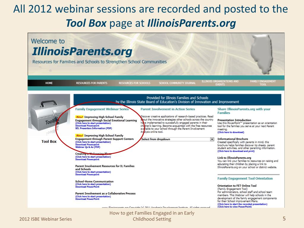 All 2012 webinar sessions are recorded and posted to the