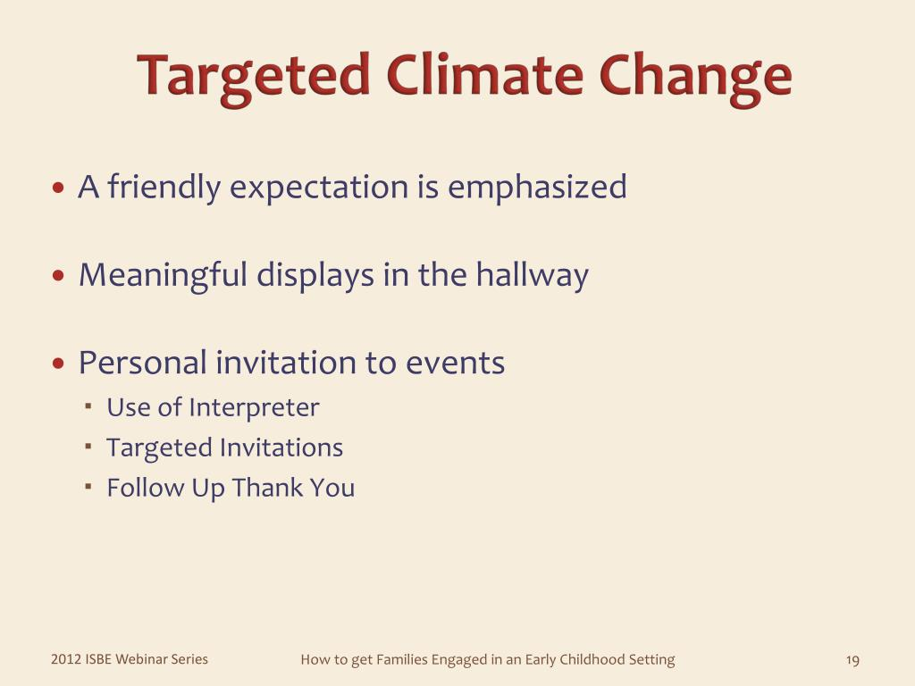 Targeted Climate Change
