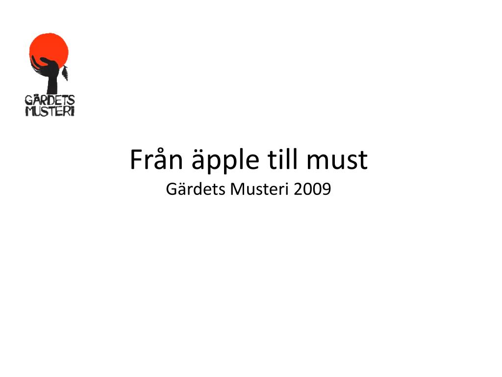 Från äpple till must