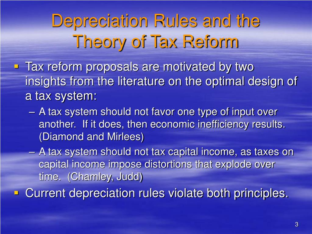 Depreciation Rules and the