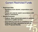 current restricted funds