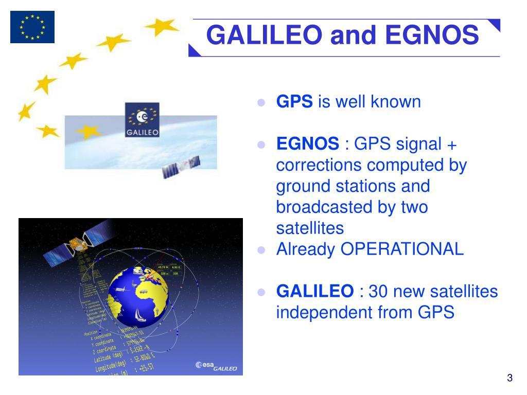GALILEO and EGNOS