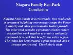 niagara family eco park conclusion
