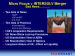 micro focus intersolv merger bad news