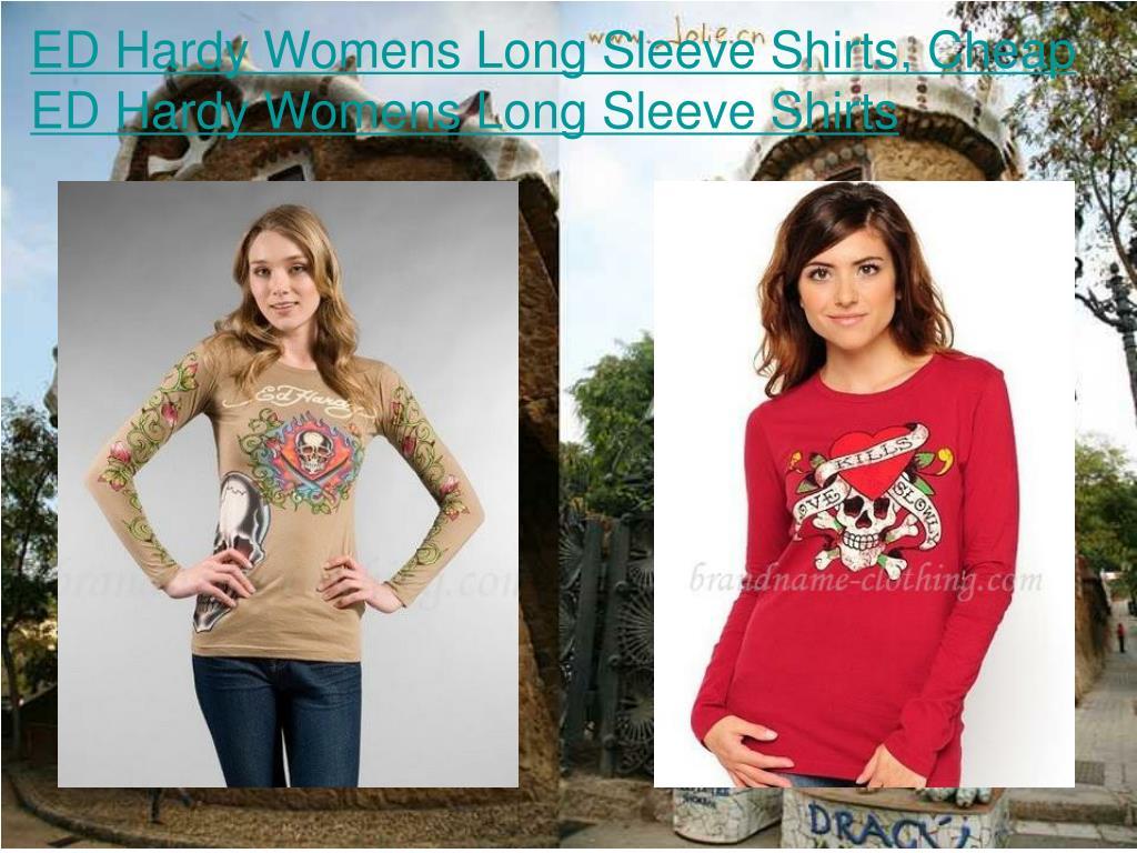 ED Hardy Womens Long Sleeve Shirts, Cheap ED Hardy Womens Long Sleeve Shirts