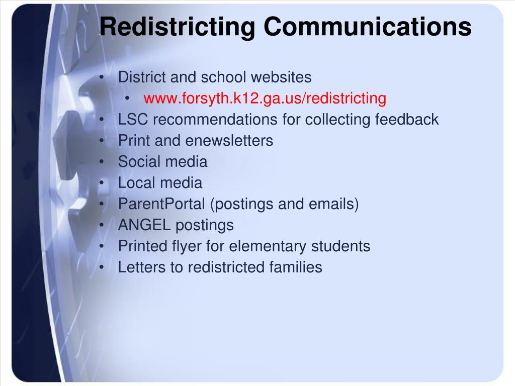 Redistricting Communications