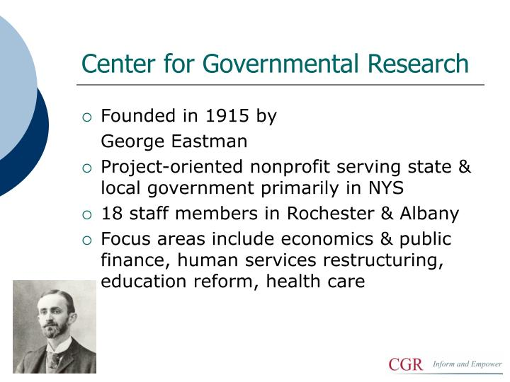 Center for governmental research