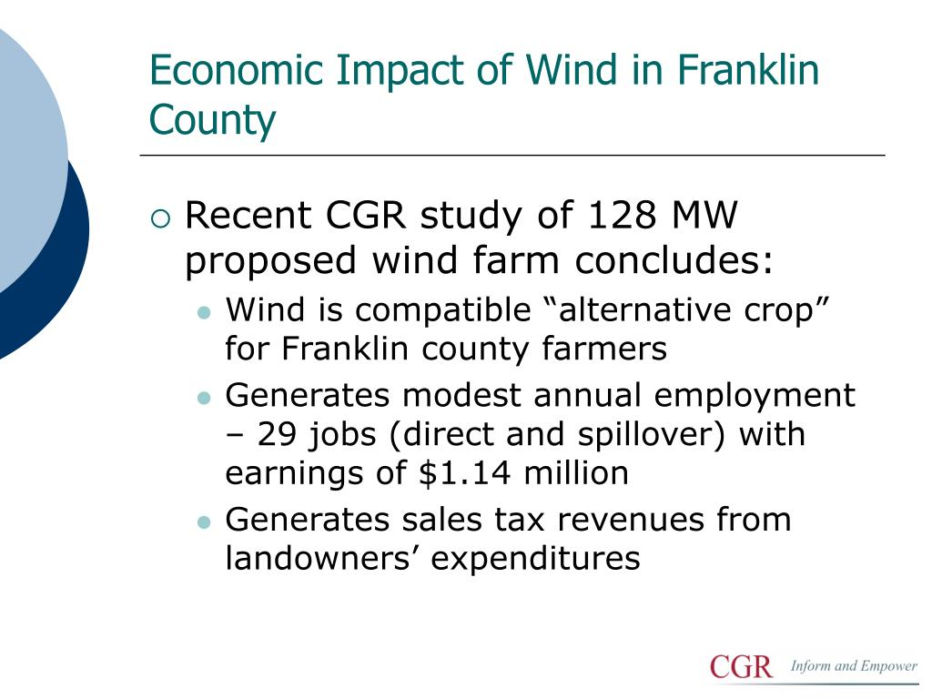 Economic Impact of Wind in Franklin County