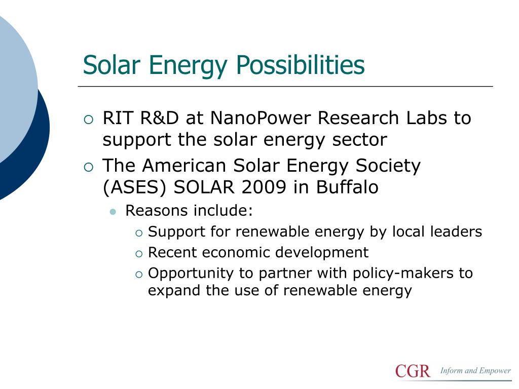 Solar Energy Possibilities