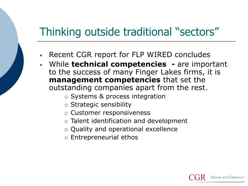 "Thinking outside traditional ""sectors"""