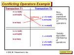 conflicting operators example