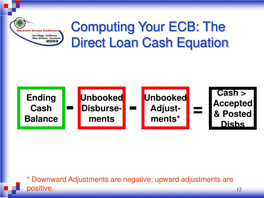 Computing Your ECB: The Direct Loan Cash Equation