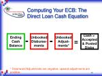 computing your ecb the direct loan cash equation12