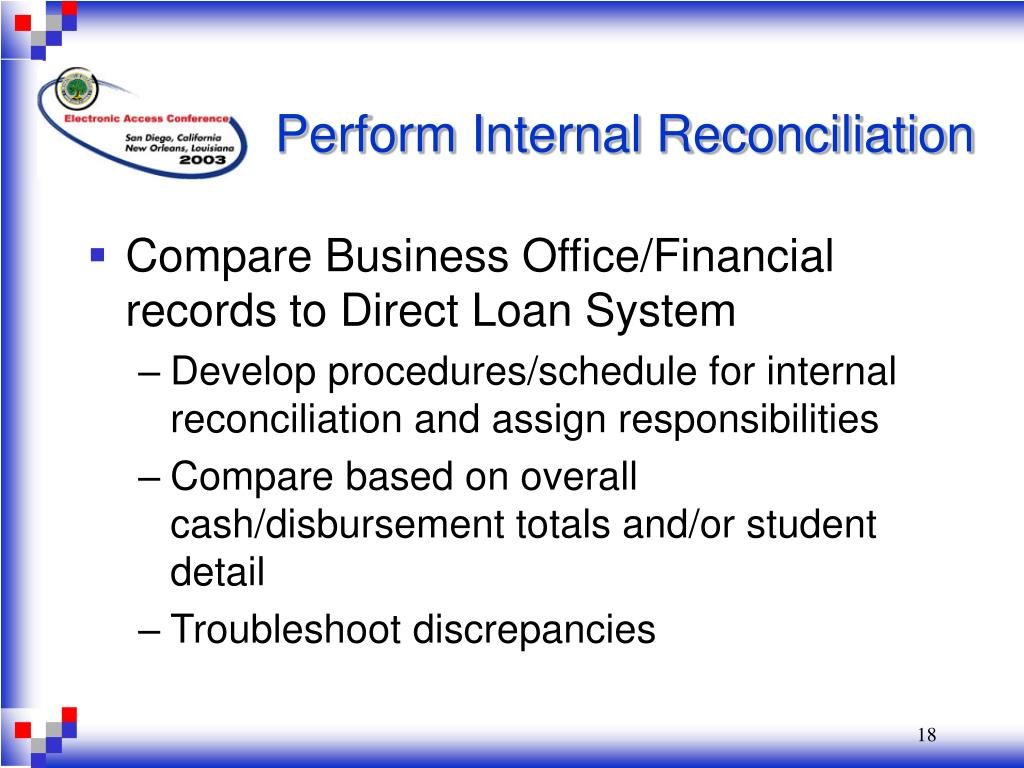 Perform Internal Reconciliation