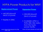 nypa power products for wny